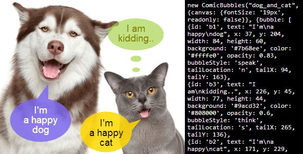 ComicBubbles - Speech Balloon JavaScript Library