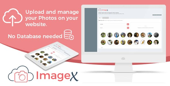 Website Images and Photos Upload & Managment without Database - ImageX