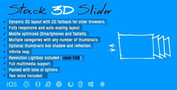 Stack 3D Slider
