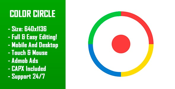 Color Circle - HTML5 Game + Mobile Version! (Construct-2 CAPX) - CodeCanyon Item for Sale