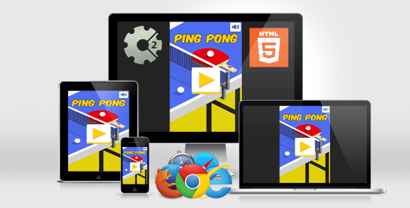 Ping Pong - HTML5 Casual Game - CodeCanyon Item for Sale
