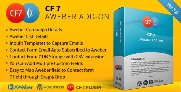 CF7 Aweber Add-on - CodeCanyon Item for Sale