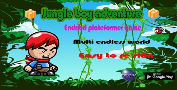 Jungle boy adventure (plateformer game + AdMob ban and inter +Eclipse project)