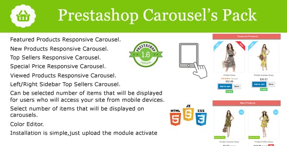 Prestashop 8 in 1 Carousel's with Countdown Pack Module