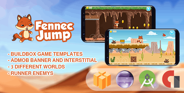 Fennec Fox Jump - buildbox template ( BBDOC + Android Studio + Eclipse + Xcode ) - CodeCanyon Item for Sale