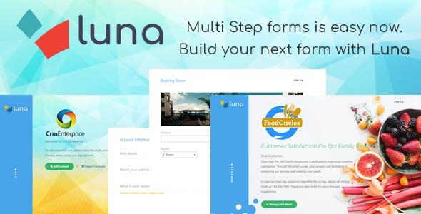 Luna Multi Step Form. E-commerce, Questionnaire, Reservation, Service