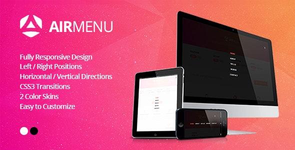AirMenu - Responsive Fullscreen Navigation - CodeCanyon Item for Sale