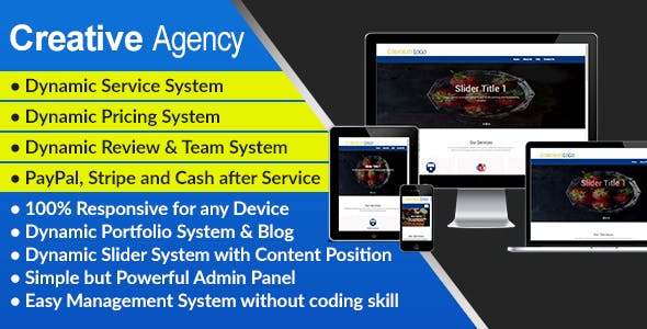 Creative Agency - Complete Agency Website and Management System