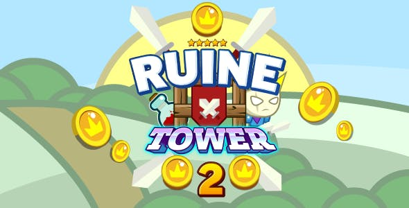 Ruin tower 2 - HTML5 game. Construct 2 (capx). Mob controll
