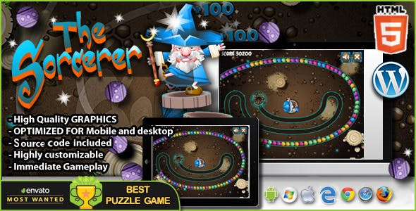 The Sorcerer  - HTML5 Puzzle Game