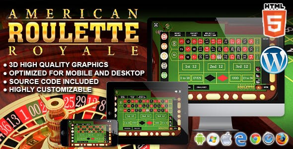 American Roulette Royale - HTML5 Casino Game