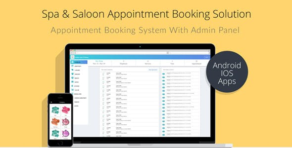 Spa & Salon Appointment Booking Solution with Admin Panel ionic 3 and laravel