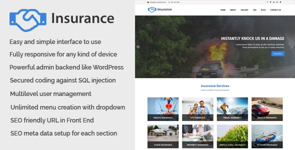 Insurance - Business and Insurance Website CMS - CodeCanyon Item for Sale