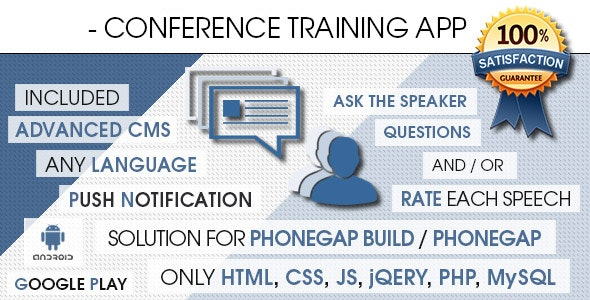 Conference Training App With CMS - Android [ AdMob & Push Notifications ] - CodeCanyon Item for Sale