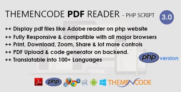 ThemeNcode PDF Reader - PHP Script