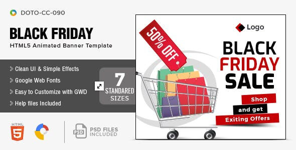 Black Friday HTML5 Banners - 7 Sizes