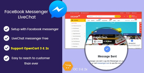 FaceBook Messenger LiveChat - Responsive LiveChat OpenCart 3 & 2 Module - CodeCanyon Item for Sale