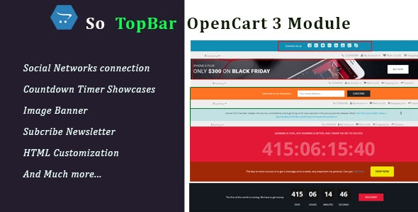 Topbar - Responsive Topbar OpenCart 3 Module - CodeCanyon Item for Sale