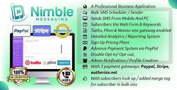 Nimble Messaging Business Mobile SMS Marketing Application For Android