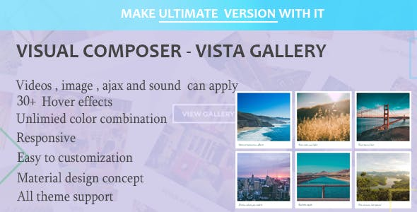 Visual Composer - Vista Gallery