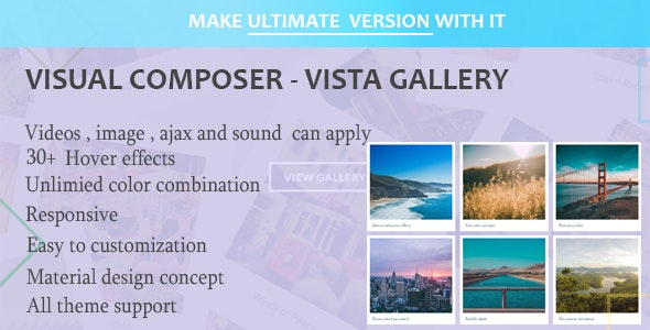 Visual Composer - Vista Gallery - CodeCanyon Item for Sale