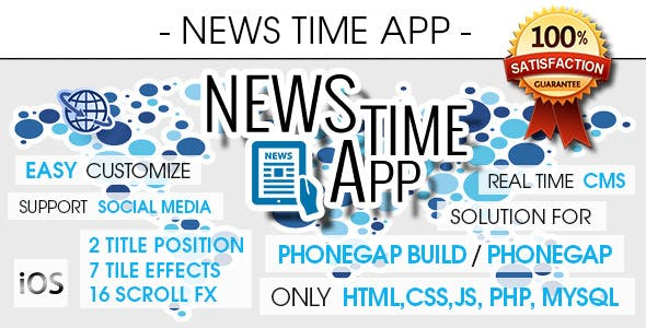 News Time App With CMS - iOS [ AdMob & Push Notifications ]