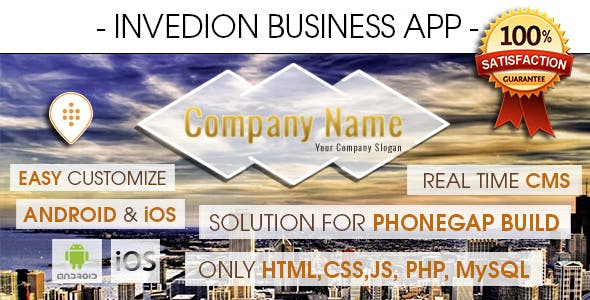 Business App With CMS - Android & iOS [ 2017 Edition ]