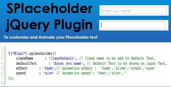 SPlaceholder Plugin - CodeCanyon Item for Sale