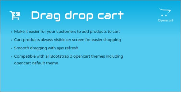 Drag and Drop Cart Opencart Module