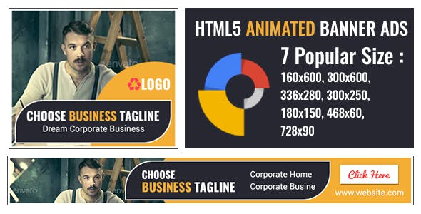 Corporate Business – HTML5 Animated GWD Banner Ad Templates