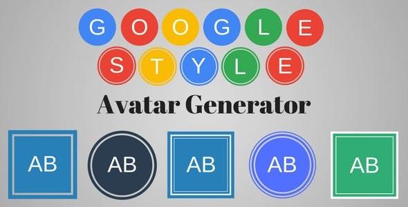 Google Style Text Avatar Generator