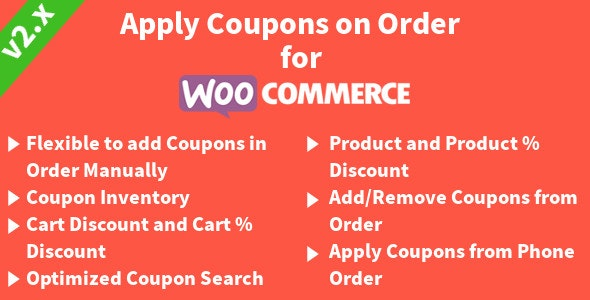 Apply Coupons on Order for WooCommerce - CodeCanyon Item for Sale