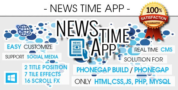 News Time App With CMS - Windows Phone