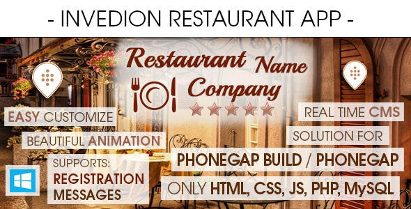 Restaurant App With CMS - Windows Phone