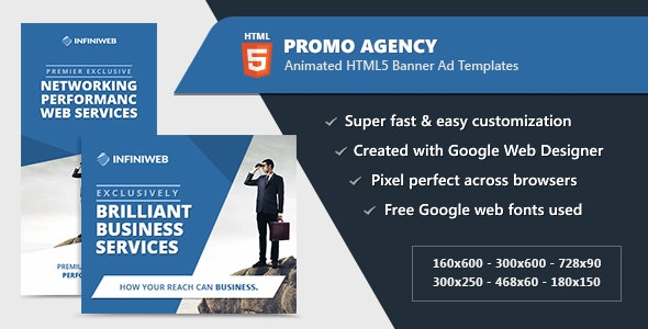 HTML5 Animated Banner Ads - Promo Agency (GWD) - CodeCanyon Item for Sale