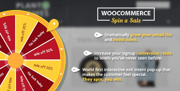 Woocommerce Spin a Sales