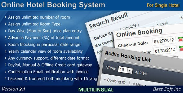 Online Hotel Booking System
