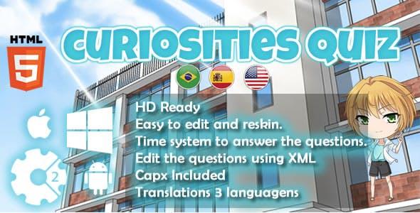 Curiosities Quiz - HTML5 Game (Capx)