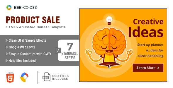 Multipurpose HTML5 Banners - 7 Sizes - CodeCanyon Item for Sale