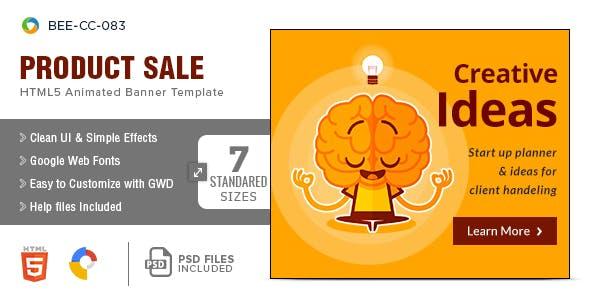 Multipurpose HTML5 Banners - 7 Sizes