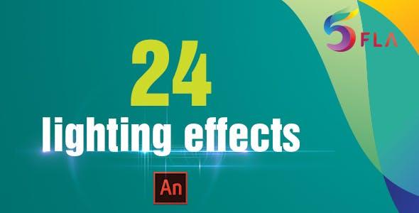 24 Light Effects (Adobe Animate CC)