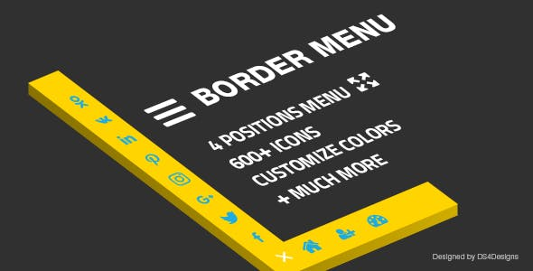 Border Menu - custom icon menu with an animated border effect