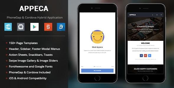 Appeca | PhoneGap & Cordova Mobile App - CodeCanyon Item for Sale