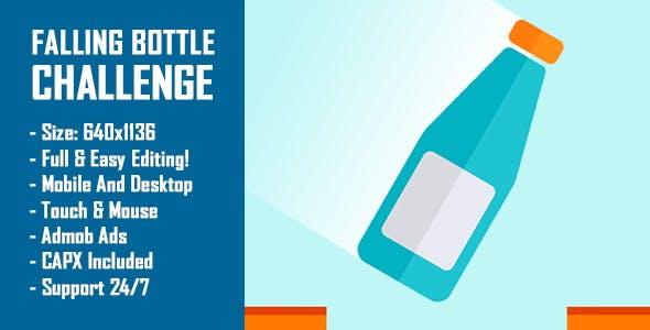 Falling Bottle Challenge (Bottle Flip Challenge) - HTML5 Game + Mobile Version! (Construct-2 CAPX)