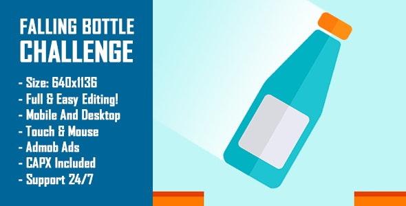 Falling Bottle Challenge (Bottle Flip Challenge) - HTML5 Game + Mobile Version! (Construct-2 CAPX) - CodeCanyon Item for Sale