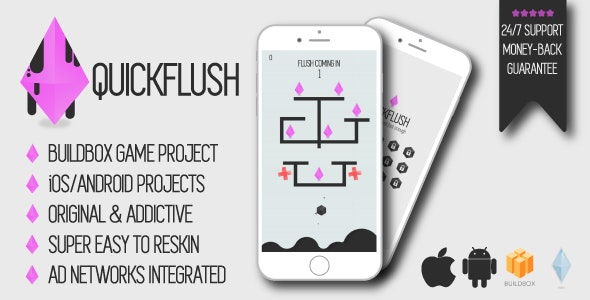 Quickflush - iOS/Android/Buildbox Game Project