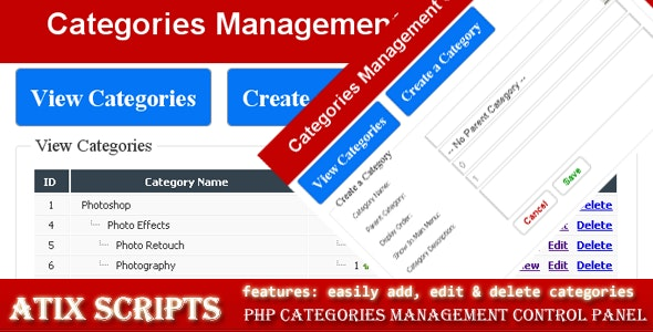 Manage categories of hierarchic content - CodeCanyon Item for Sale