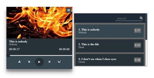 Audio Player with Playlist - CodeCanyon Item for Sale