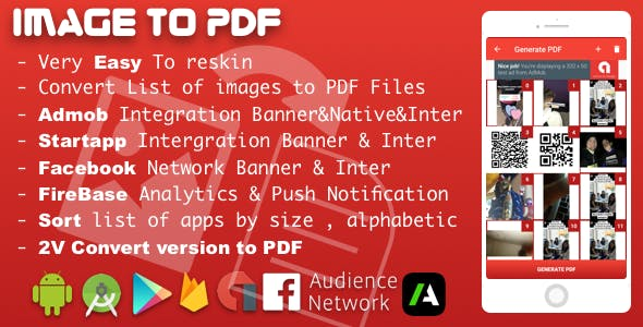 Image to PDF Converter With Admob, Facebook Network Ads and Startapp