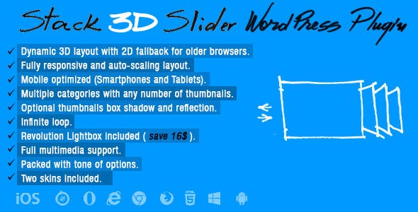 Stack 3D Slider Wordpress Plugin